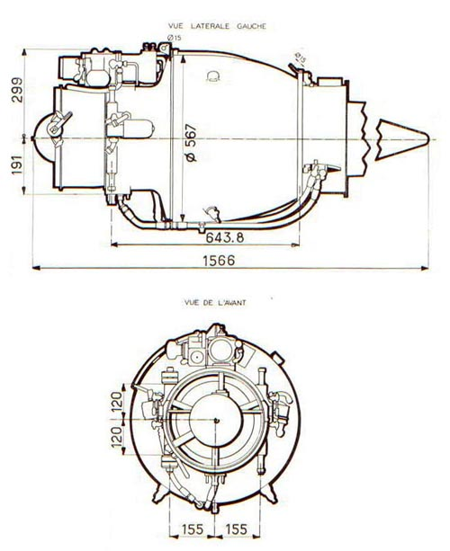 Turbomeca Marbore Drawing